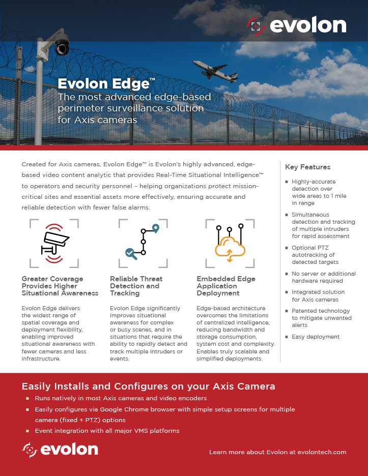 Submit form to download the Evolon Edge Collateral
