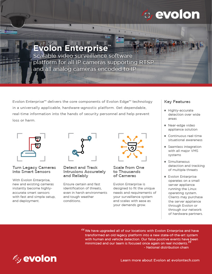 Submit form to download the Evolon Enterprise Collateral