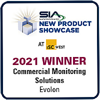 Evolon Verify™ Wins Commercial Monitoring Solutions Award in 2021 SIA New Product Showcase at ISC West
